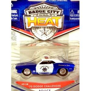 Jada Badge City Heat - 1970 Dodge Challenger Highway Patrol Police Car