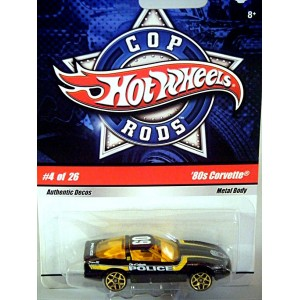 Hot Wheels Cop Rods - Chevrolet Corvette C4 Coupe Police Car