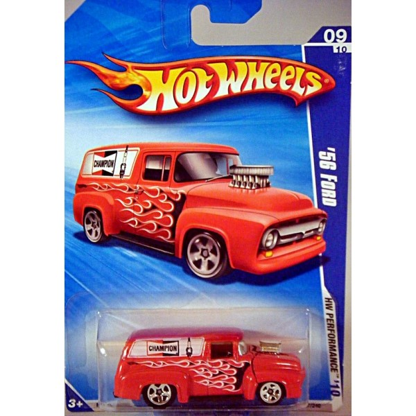 Hot Wheels 1956 Ford F 100 Champion Spark Plug Panel Van