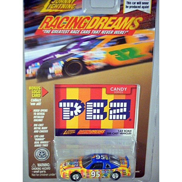 Johnny Lightning Racing Dreams - PEZ Chevrolet Monte Carlo NASCAR Stock Car