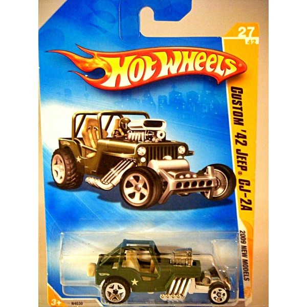 Hot Wheels 2009 New Models Series 1942 Military Jeep Cj